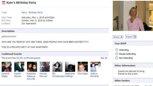 Kate's Party Facebook Hoax