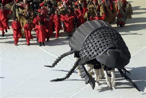 FIFA 2010 World Cup Opening Ceremony Dung Beetle