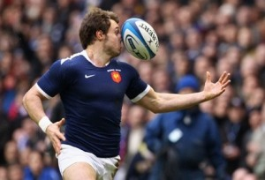 Vincent Clerc rugby ball in the face