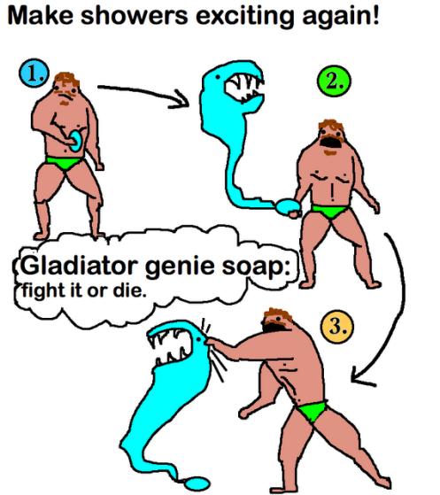 Gladiator Genie soap