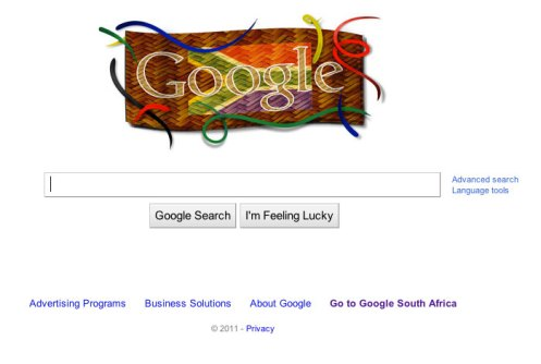 South Africa Freedom Day Google Logo