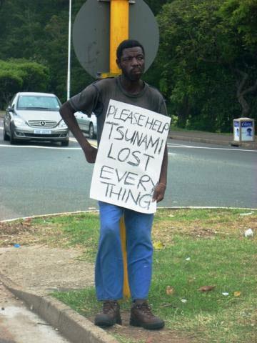 Tsunami Begging