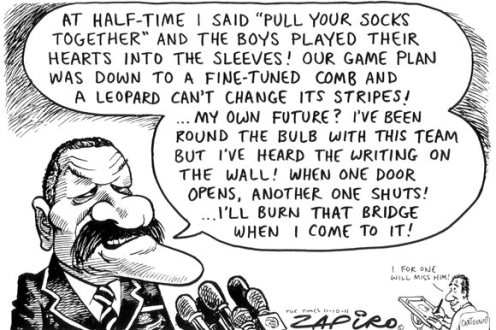 Zapiro cartoon of Pieter de Villiers