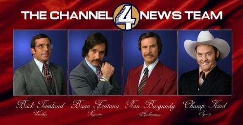 Anchorman sequel channel 4 news team anchorman 2